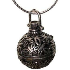 Aromatherapy Silver Cage Necklace with Lava BEAD!